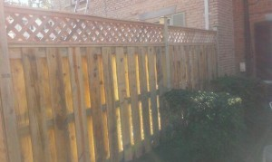 Wooden Fence built during National Rebuilding Day