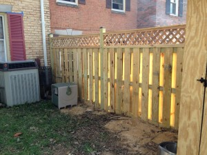 Fence built during National Rebuilding Day
