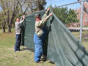 Hercules Fence was honored to donate temporary fencing and a wood dumpster to Goochland Cares.