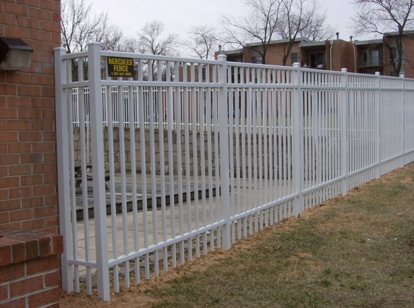Elite 6 Foot High White Commercial Aluminum Pool Fence