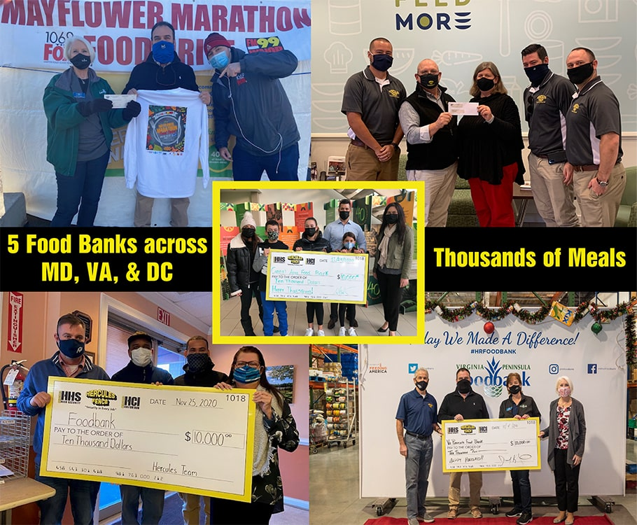 Maryland Food Bank at the Ravens Family Fun and Food Drive Telethon Collage